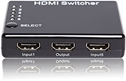 C&E HDMI 5x1 5 Port Switch/Switcher with Support 3D w/o Power