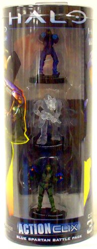 Buy Low Price NECA Halo ActionClix Trading Miniature Figure Game Blue Spartan Battle Pack (B003XDPQV4)