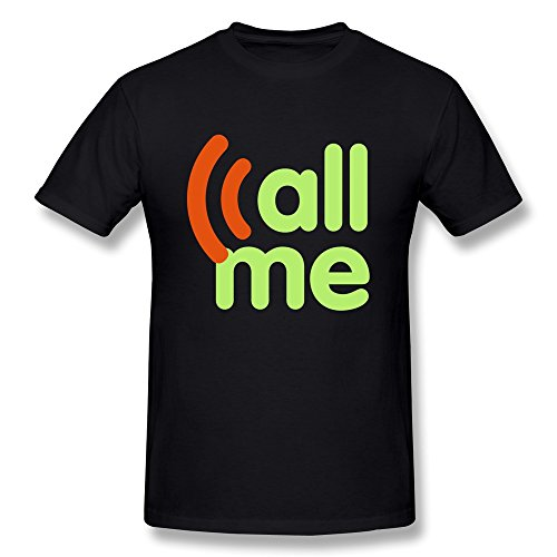 Ptcy Men'S Tee Call Me Us Size Xl Black front-557268