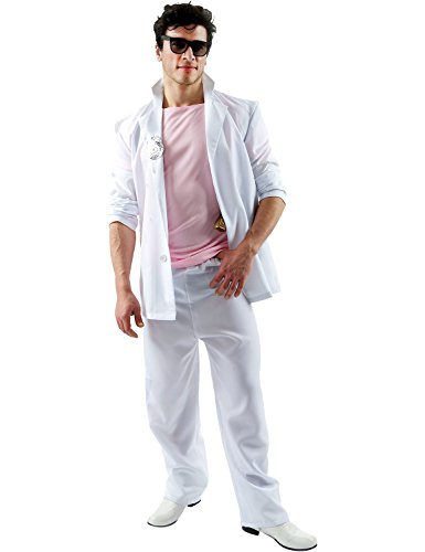 Florida Detective Pink and White 80s TV Cop Costume - Standard or XL