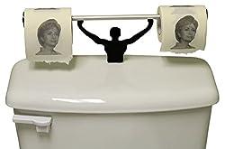Fairly Odd Novelties FON-10144 Hillary Clinton Toilet Paper with Strong Man Holder Democrats Political Gift Set