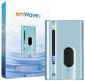EmWave 2 - Heartmath Personal Stress Reliever Silver Blue