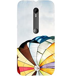 Casotec Sky Colorful Design Hard Back Case Cover for Motorola Moto G 3rd Generation