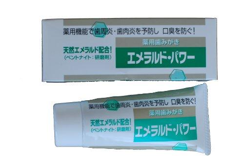 天然エメラルド配合薬用歯みがき エメラルドパワー 80g 1本