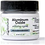 Aluminum Oxide Microdermabrasion Crystals to Exfoliate Your Facial Skin to Treat Age Spots, Acne, Wrinkles, Enlarged Pores, Black Heads, White Heads and Fine Lines, 1.5oz, Do Your Own Microdermabrasion At Home! from IQ Natural