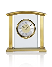 Brass & Glass Mantel Clock