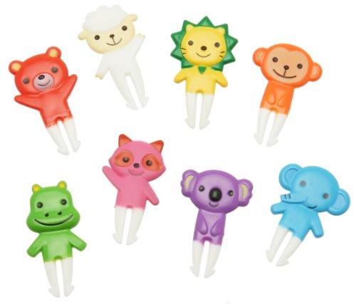 Kotobuki Food Picks For Bento Boxes, Colorful Zoo Babies