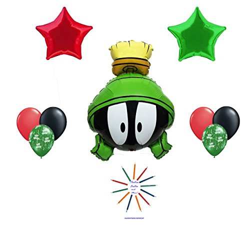[Marvin The Martian Happy Birthday Balloon Bouquet] (Looney Tunes Martian Costume)