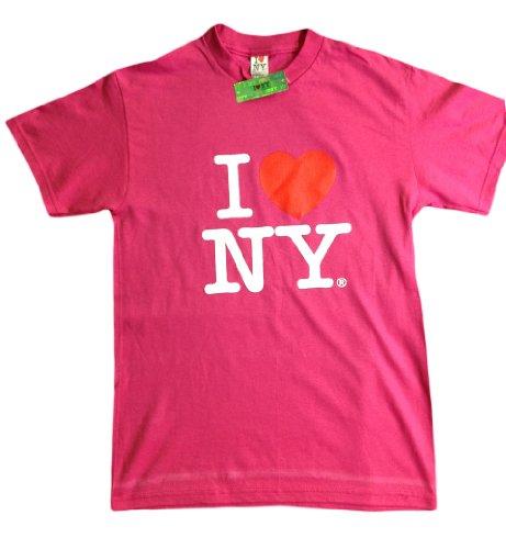 I Love Ny New York Baby Infant Short Sleeve Screen Print Heart T-Shirt Hot Pink Medium 12 Months front-593082
