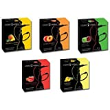 Hydro Herbal 250g, 5 Mix: Apple, Strawberry, Mango, Peach & Pineapple, Hookah Shisha Tobacco Free Molasses, Value Pack!