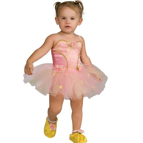 Childs Pink Rose Ballerina Costume, Small (Size 4-6) (Ages 3-4) front-497630