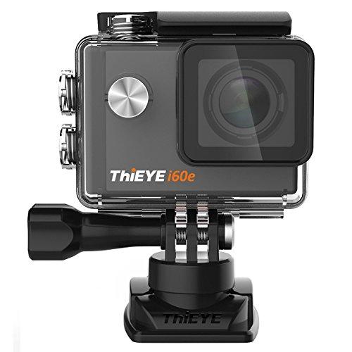 ThiEYE i60e Actioncam 4k HD Action Cam Wasserdichte Helmkamera Actionkamera WIFI Sport Action Kamera mit 2 Akkus, 170° Weitwinkel, 2 Zoll