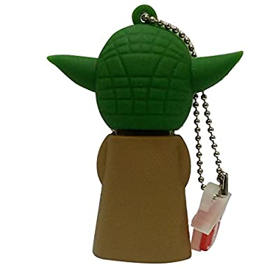 Hitkart USB Flash Drive New Style Star Wars Yoda P5-16GB Storage Device USB 2.0 or Higher