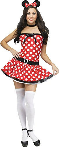 Funworld Womens Sexy Mickey Minnie Mouse Adults Theme Party Halloween Costume