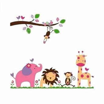 Kawall baby kids line animal kingdom jungle for Animal decoration games for girls