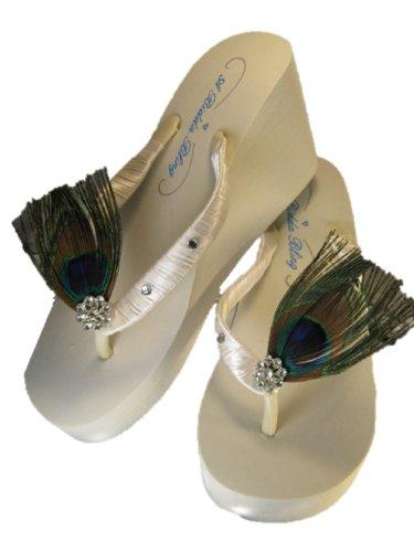 Crystal Wedge Flip Flops