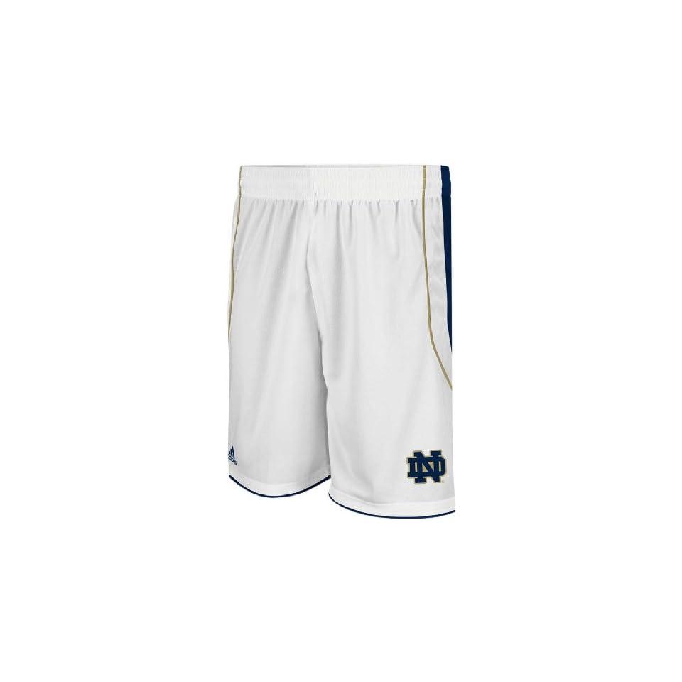 Adidas Notre Dame Fighting Irish New White Replica Basketball Shorts