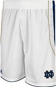 Adidas Notre Dame Fighting Irish New White Replica Basketball Shorts by adidas