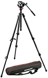 Manfrotto MVH500AH 755CX3 Lightweight Fluid Video System with Carbon Fiber Legs and Bag (Black)