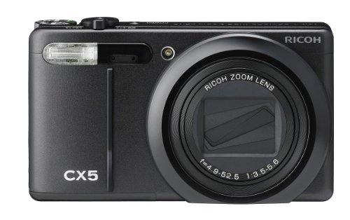 RICOH ハイブリッドAFシステム搭載 光学10.7倍ズーム CX5 ブラック CX5BK