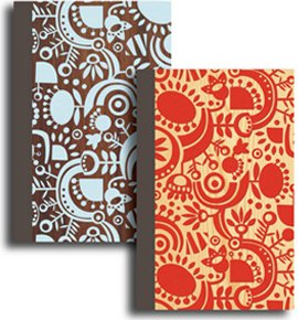 International Arrivals Flocked Duet Journals, Flocked Jasmine, 4.25 x 6.5 inches, 2-Count (118-101)