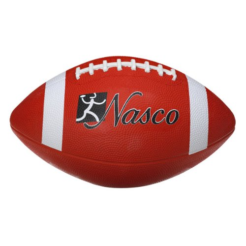 Nasco PE02695E Youth/Intermediate Size 4 Football, Red, Grades 7+