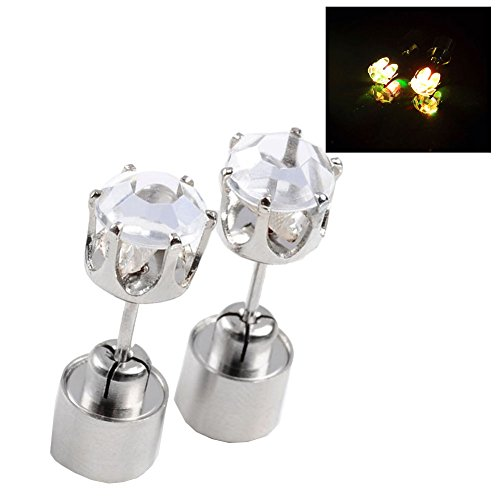 Jovivi Hot New Fashion Light Up Led Earrings Ear Studs - Sell As 1Pair (Flashing Light Multicolor)