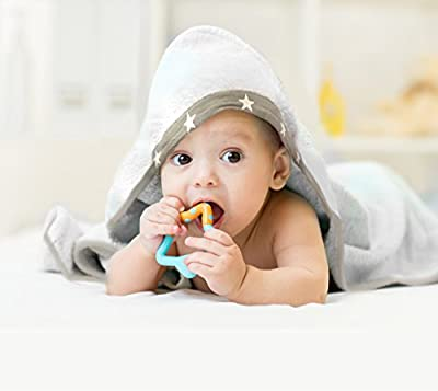 """Baby Bamboo Hooded Towel - Large (35""""X35""""), 100% Bamboo, Organic, Ultra Soft - Boy & Girl, Infant and Toddler baby gift"""