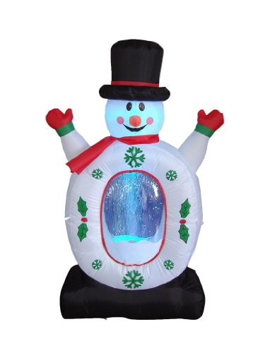 Inflatable Animated Outdoor Snowman Christmas Decoration