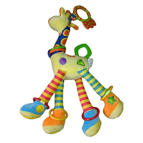 Hot ! 100% Cotton Infant Baby Development Soft Giraffe Animal Handbells Rattles Handle Toys (Winnie The Pooh Pack N Play compare prices)
