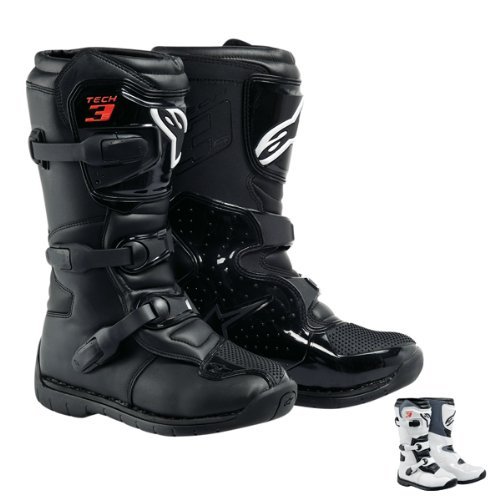 Alpinestars - Bottes Cross Tech 3S Youth Boot - Couleur : White - Pointure : 4