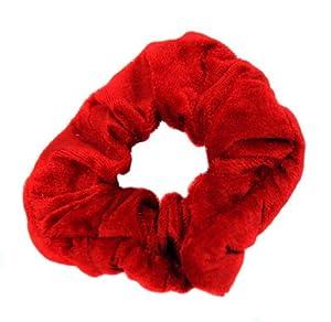 Haargummi Rot in aus edlem Samt extra groß