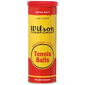 Buy Anniversary 3 Tennis Ball Metal Can White by Wilson