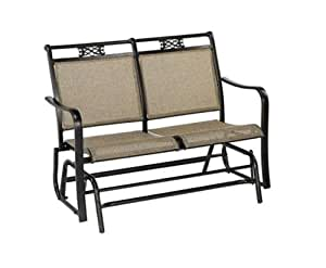 Living accents double glider aluminum patio for Living accents patio furniture