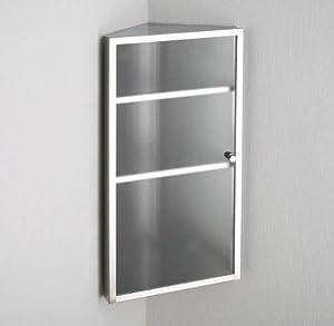 Bilbao Single Door CORNER Frosted Glass Bathroom Wall Cabinet