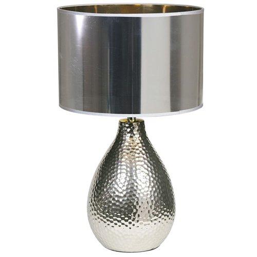 Lampada da tavolo moderno lume in ceramica argento comodino