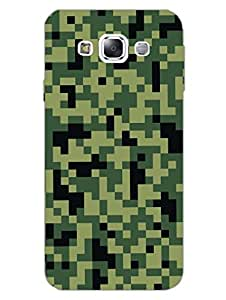 Camouflage - Pixels - Cyber Warfare - Hard Back Case Cover for Samsung E5 - Superior Matte Finish - HD Printed Cases and Covers