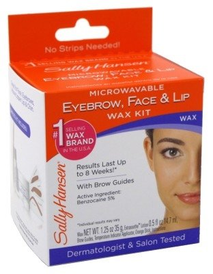 Sally Hansen Microwaveable Wax Kit For Eyebrow/Face/Lip
