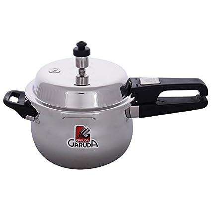 Garuda-Overseas-NRI-Stainless-Steel-3.5-L-Pressure-Cooker-(Outer-Lid)