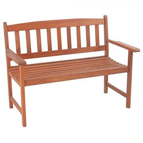Gartenbank 120,5×66,5x93cm Hartholz Armlehnen Holzbank Sitzbank Gartenmöbel jetzt kaufen