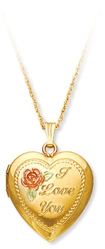 "Landstrom's ""I Love You"" Locket Pendant"