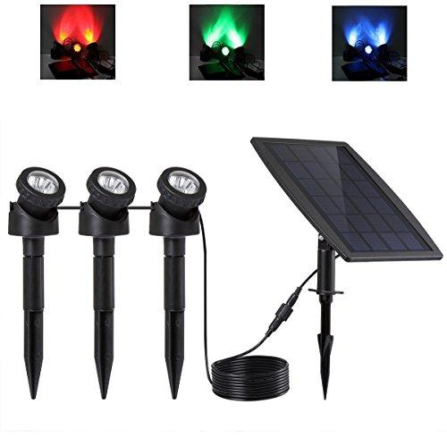 IP68 impermeabile Keynice LED Spotlight solare con 3 GRB Lampade 18 LED, subacquea Pool / Stagno / Giardino / Path Strada / esterno / illuminazione e decorazione