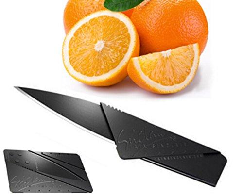 Credit Card Sized Cardsharp Safety Folding Knife Black