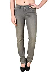 Bomshel Grey Slim Fit Jeans for women (36)