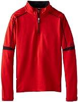ASICS Big Boys' Linear 1/4 Zip Solid Scuba Fleece
