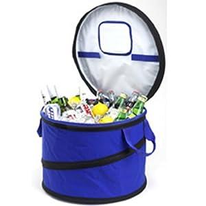 Picnic at Ascot Collapsible Party Tub Cooler, Royal Blue