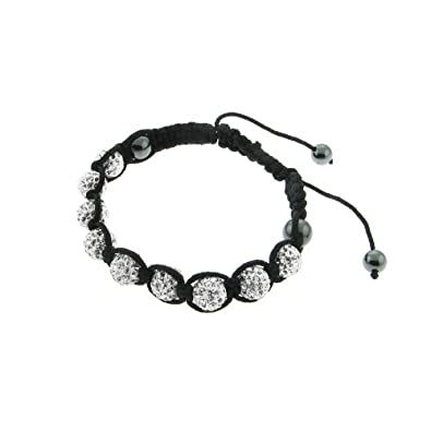 Shamballa Bracelet with White Crystal - Polyvore from polyvore.com