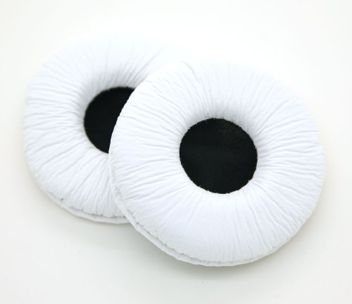 Jntworld Round Ear Pad Earpad For Professional Overhead Foldable Headphones (70Mm White)
