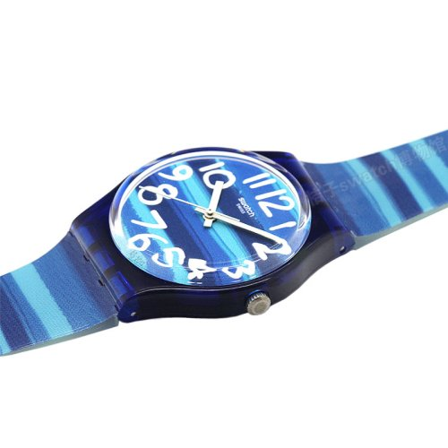 Swatch Unisex GN237 Blue Plastic Watch 3