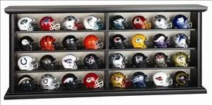 NFL Revolution Pocket Pro League Helmet Set in Wood Display
